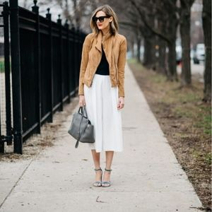 1. State white wide leg pants